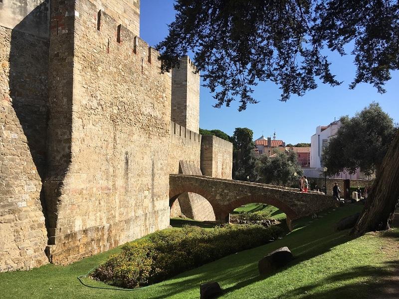 Entrada do Castelo de São Jorge em Lisboa
