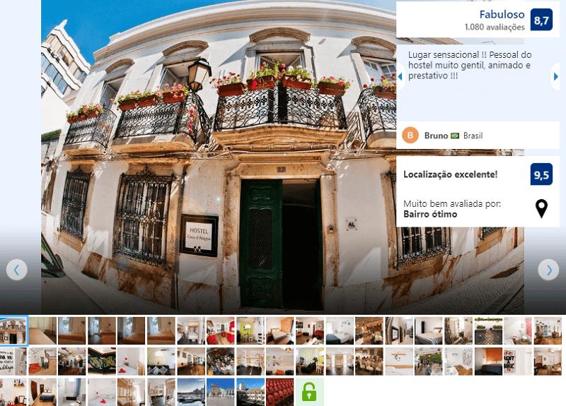 Fachada do Hostel Casa d' Alagoa em Algarve